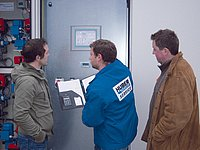 HUBER Service for control and monitoring of the customer's wastewater treatment plant and training of operating staff
